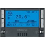 Электронный программируемый термостат Axolute с датчиком теплого пола, на 24 часа / 7 суток, 7 программ, дисплей c подсветкой, выходной переключающий контакт 3 А, 3 модуля, Bticino