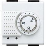 Термостат электронный комнатный Bticino LL 2А 250В, с датчиком теплого пола, 2 мод., белый, Bticino