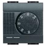 Термостат электронный комнатный Bticino LL 2А 250В, с датчиком теплого пола, 2 мод., антрацит, Bticino